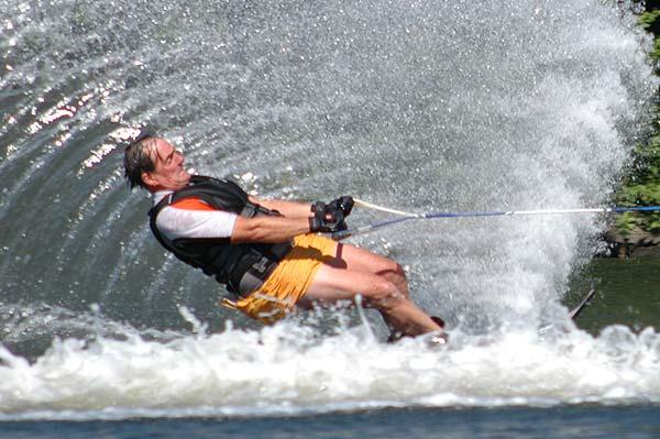 Alan skiing